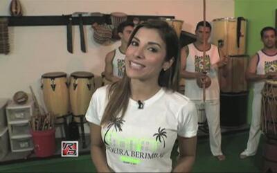 Natalia Saenz se fue a bailar capoeira
