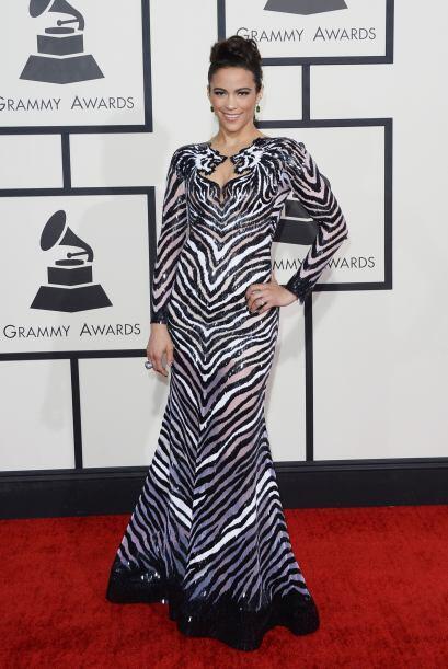 Paula Patton se convirtió en toda una cebra gracias a ese vestidito.