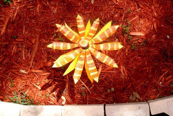 Naranja y amarillo en esta preciosa creación.