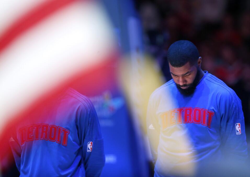 El jugador de los Detroit Pistons de la NBA, Marcus Morris.