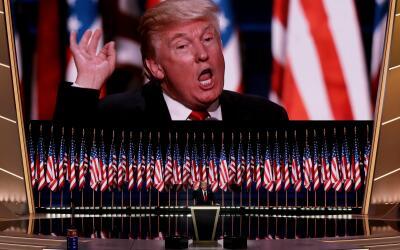 Donald Trump en la Convención Republicana.