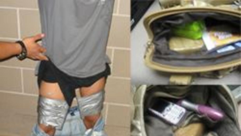 Menores capturados tratando de pasar drogas
