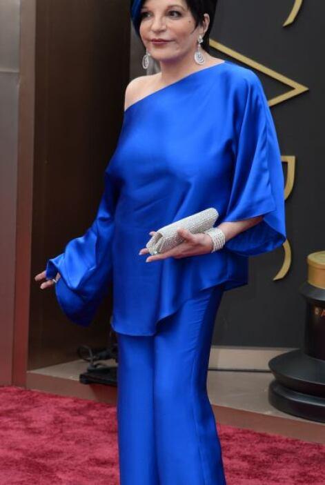 Liza Minnelli también fue de las peores vestidas de la noche. Pero el ve...