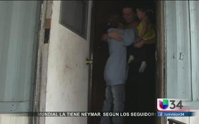 Niño sobrevivió odisea en la frontera