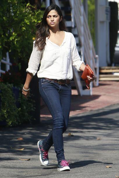 La modelo Camila Alves se alejó de las pasarelas este fin para poder pas...