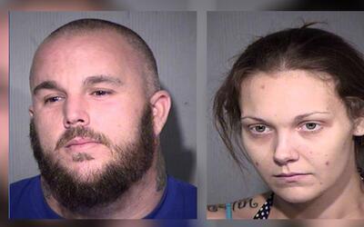 Aaron Fish, de 36 años, y Amanda Sistrunk, de 28 años, per...