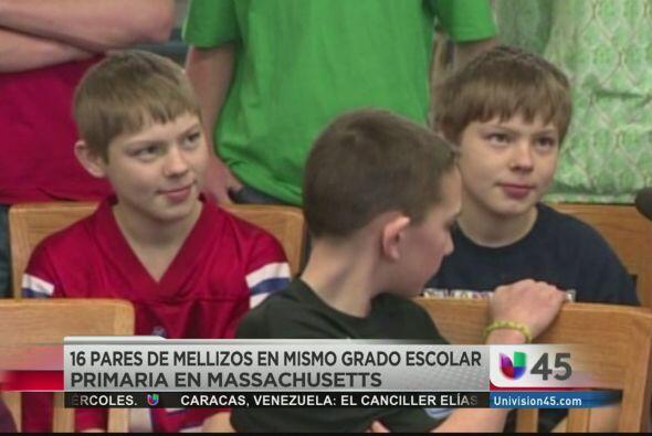 15. 16 PARES DE MELLIZOS EN EL MISMO GRADO.  Una escuela en Massachusett...