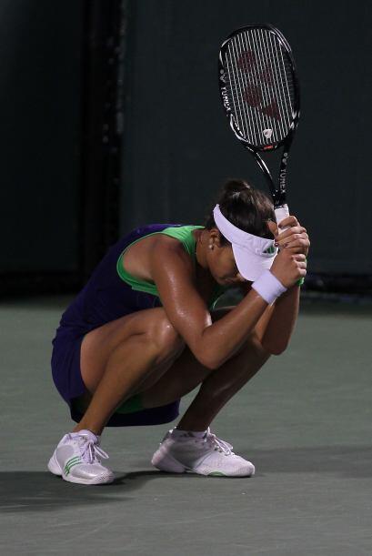 El retortijón que le dio a Ivanovic al ser eliminada por Clijsters.