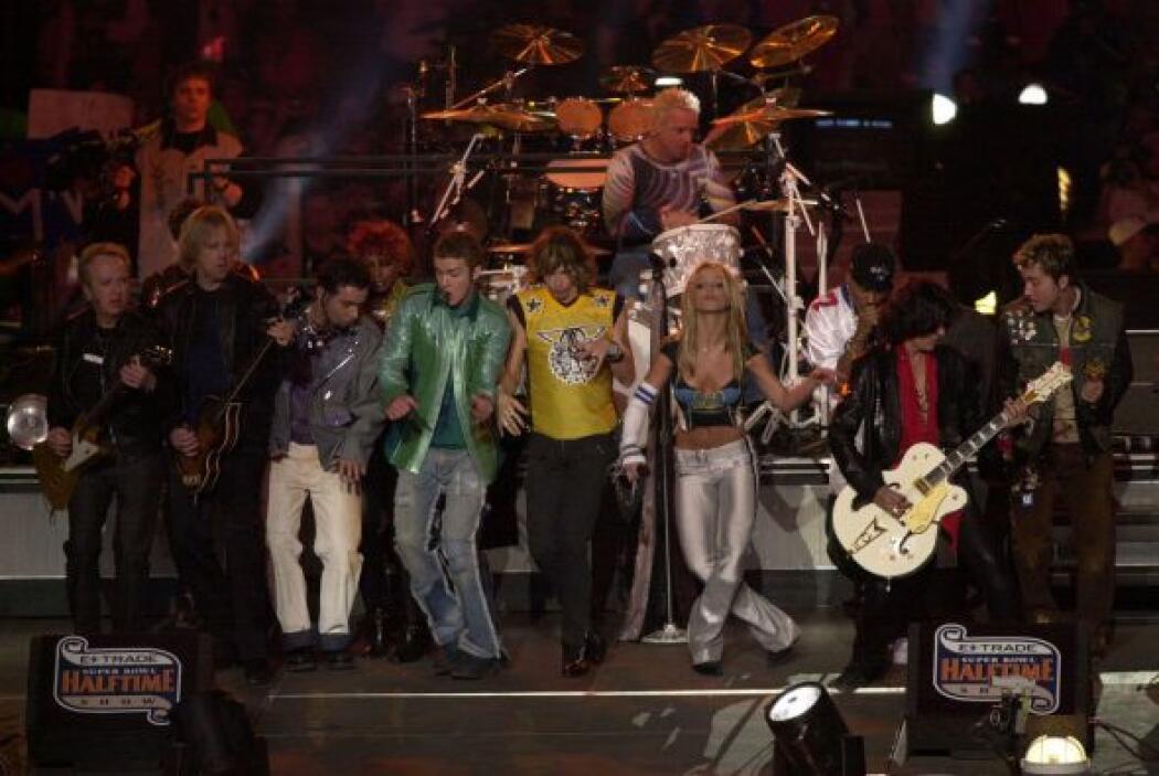 Para el Super Bowl XXXV hubo un elenco de 10: NSYNC, Aerosmith y Britney...