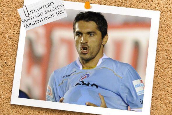 En la delantera...El paraguayo Santiago Salcedo, delantero de Argentinos...