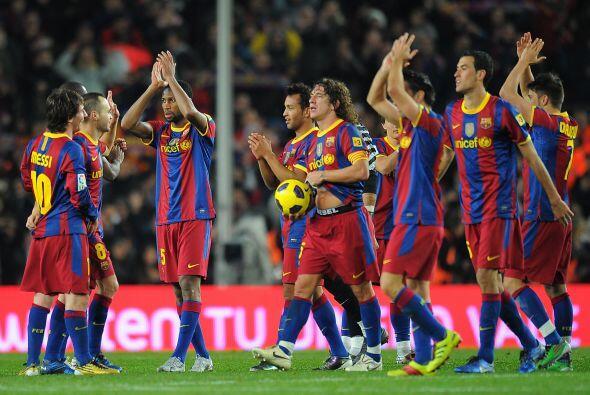Otro conjunto español, el Barcelona, resultó de lo más espectacular en c...
