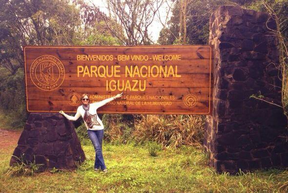 Lili visitó el Parque Nacional Iguazu.