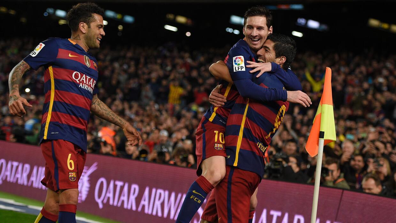 Lionel Messi festeja con el Barcelona