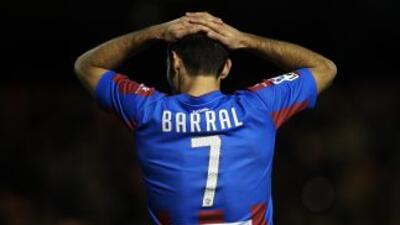 El gol de Barral fue suficiente para los levantinos.
