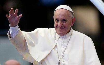"""""""Las religiones no quieren guerra"""", dijo el papa."""