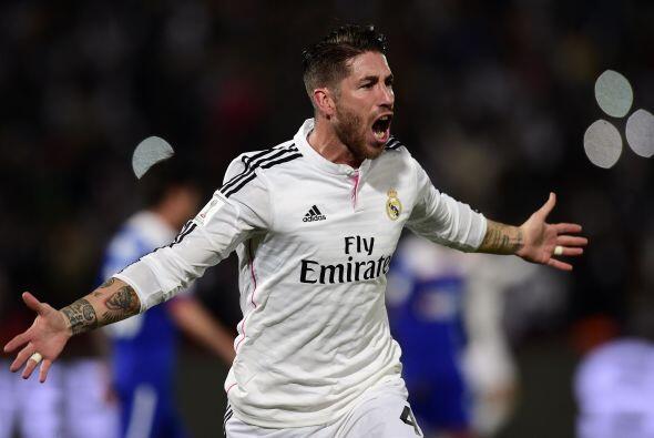 El español Sergio Ramos fue otro de los premiados en defensa, el zaguero...
