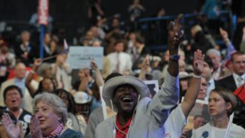 Convención Nacional Demócrata 2012 en Charlotte, Carolina del Norte.