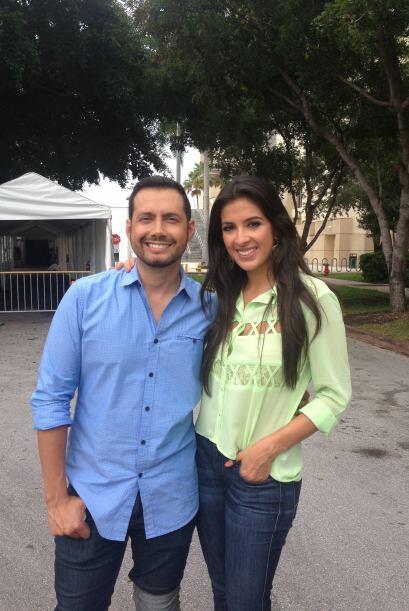 ¡Qué calor hace en Miami! Pero Maity Interiano y Luis Sandoval están en...