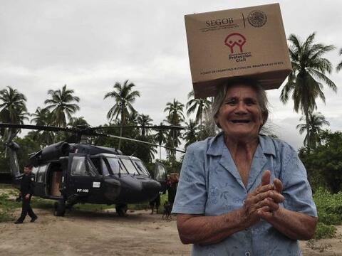 """Ante la catástrofe que dejó el paso de la tormenta tropical """"Manuel"""" por..."""