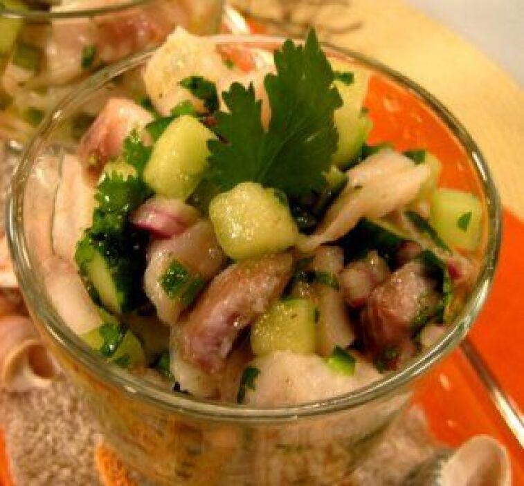 Ceviche de tilapia con melón: Refrescante y deliciosa, esta es una recet...
