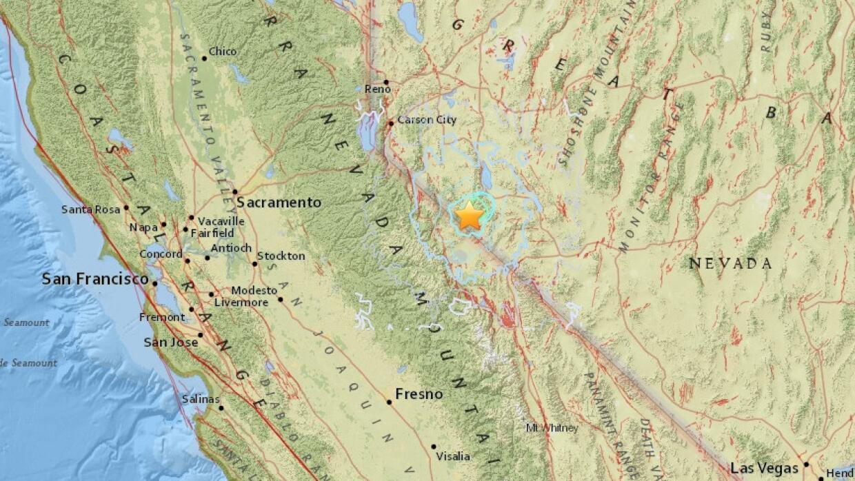 El epicentro de los dos temblores de 5.7 grados se ubicó en Hawthorne,...