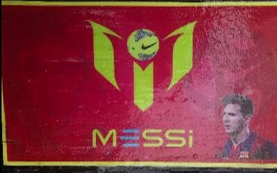 Logo de Lionel Messi en cargamento de cocaína