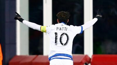 Ignacio Piatti celebra el gol del triunfo
