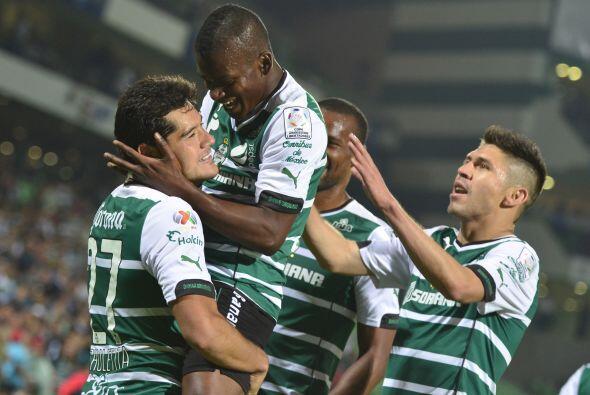 La ofensiva de Santos fue la mejor del Clausura 2014 con 33 goles anotad...
