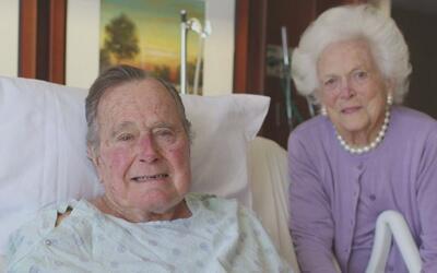 La exprimera dama Barbara Bush ya fue dada de alta del Hospital Metodist...