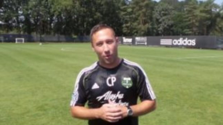 El técnico de Portland lanzó un reto al entrenador del Bayern Múnich.