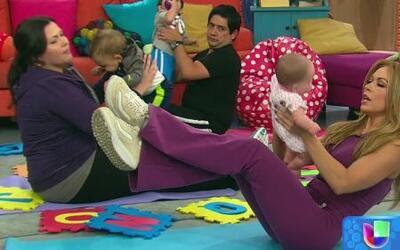 Claudia Molina te enseña a ejercitarte con tu bebé