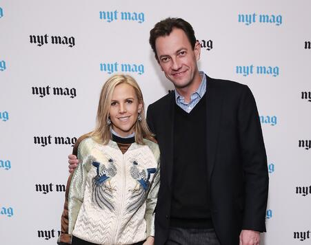 Fashion designer Tory Burch and LVMH CEO Pierre-Yves Roussel attend The...
