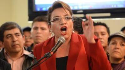 Xiomara Castro,candidata presidencial del principal partido de oposició...