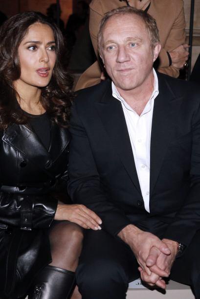 La actriz siempre estuvo acompañada de su esposo François-Henri Pinault.