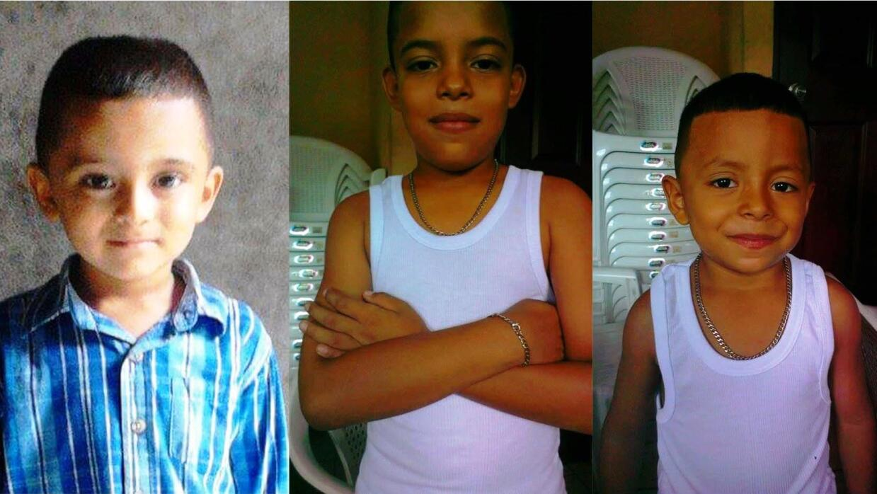 Josué, de 5 años, José Luis, de 10, y Brandon, de 5.