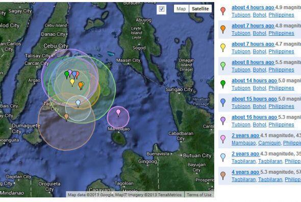 Otros sismos han hecho temblar anteriormente otras islas del archipiélag...