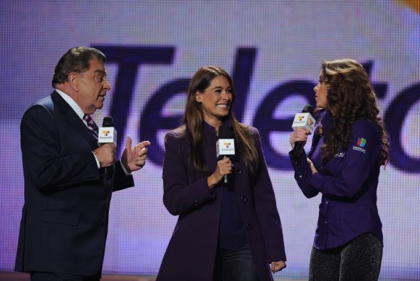 Don Francisco, Galilea Montijo y Lucero, haciendo los 'ultimos comentari...