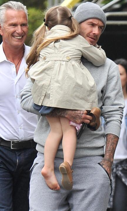 David Beckham y sus hijos