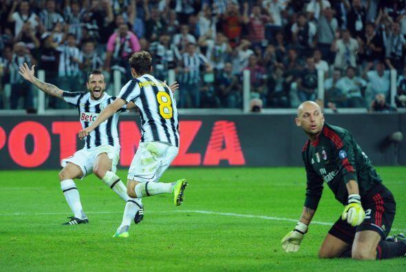 El volante de la Juventus fue el hombre que decidió el duelo ante el Milan.