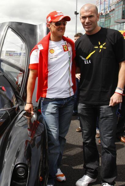 Michael Schumacher gran admirador de otra leyenda, el francés Zinedine Z...