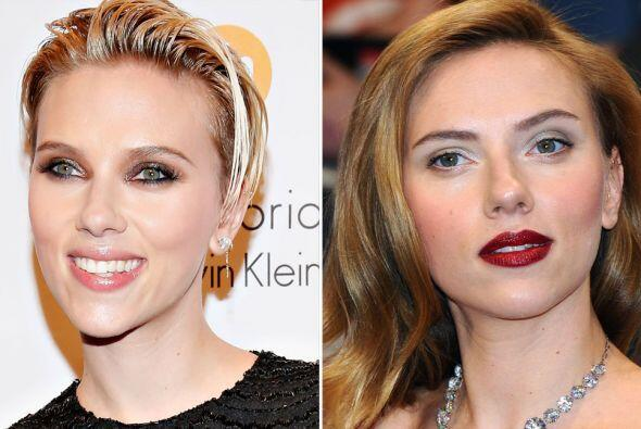 Cuando se tiene una cara de muñeca como la de Scarlett Johansson, cualqu...