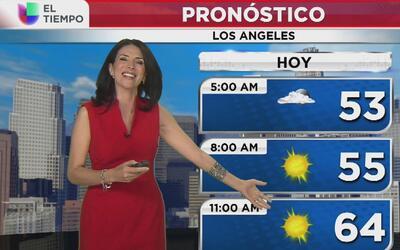 Bajas temperaturas y algo de lluvia para este viernes en Los Ángeles