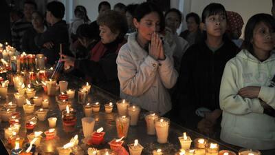 Devotos de la Virgen de Guadalupe en Guatemala