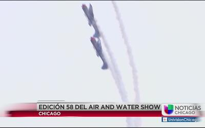 Ni la lluvia afectó el Air and Water Show en Chicago