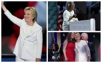 Los vestidos de la Convención Demócrata.