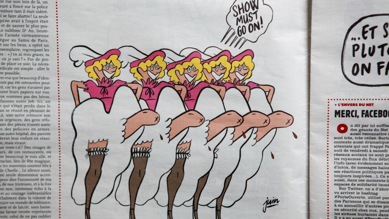 """""""El show debe continuar"""", dicen los trazos del caricaturista Juin."""