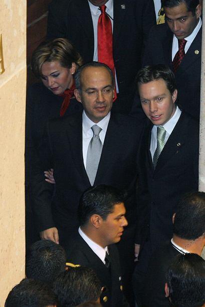 Su llegada al palacio Legislativo de San Lázaro se dio bajo un fu...