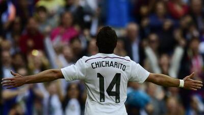 El mexicano volvió a marcar en Liga con la playera del Real Madrid.