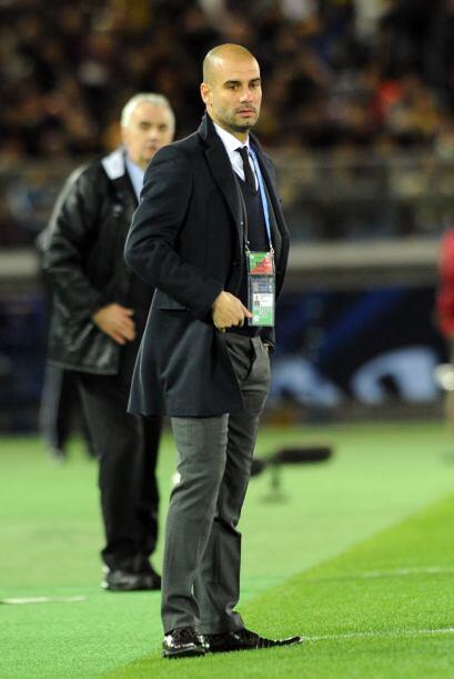 Guardiola se fue contento por el resultado pero triste por la lesi&oacut...