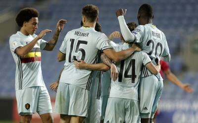 Bélgica venció 6-0 a Gibraltar